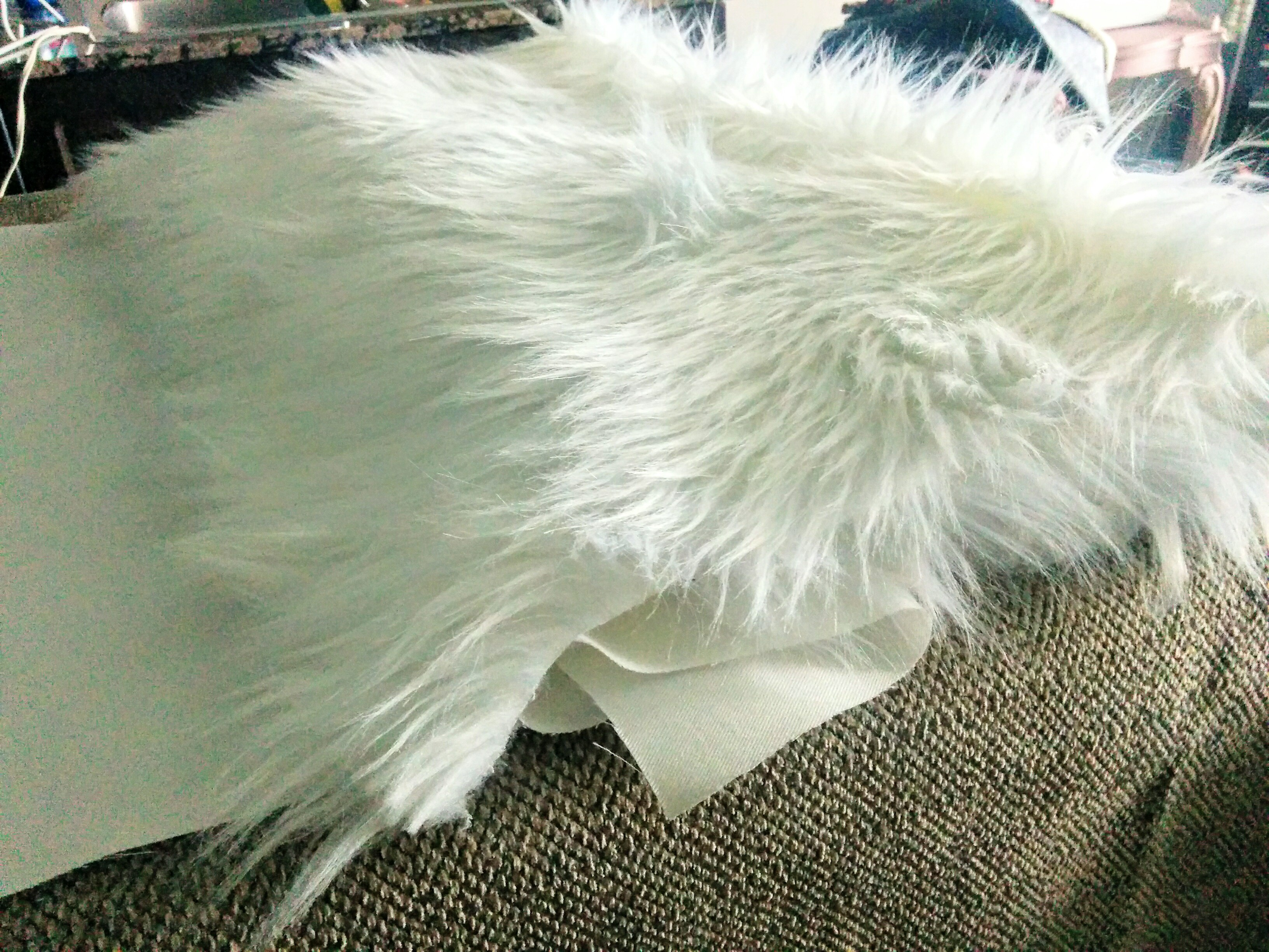 fur case of faux pillow elegant white cushion