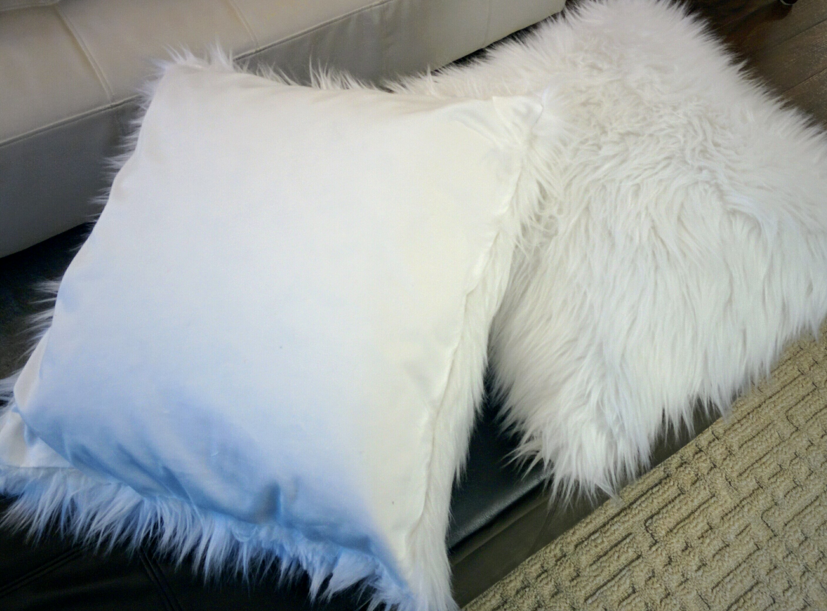 wooded and angora cuddle fur pillow pillows ash river throws